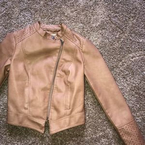 Tan Target Leather Jacket!